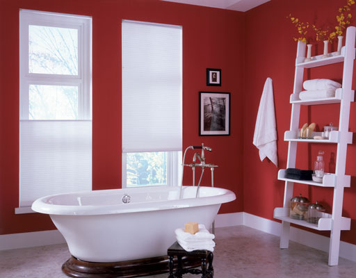 Find plenty of options for window treatments that can work well in rooms that have high humidity levels, like bathrooms