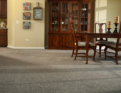 Carpet can make a dining room warm and inviting