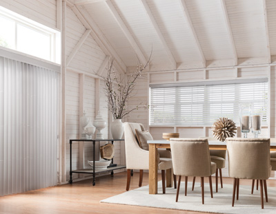 Blinds and shades are a great way to enhance your decor and flaunt your style in your dining room