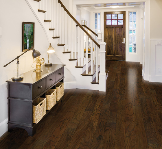Many species of hardwood flooring are designed to be extremely durable, especially for high-traffic homes