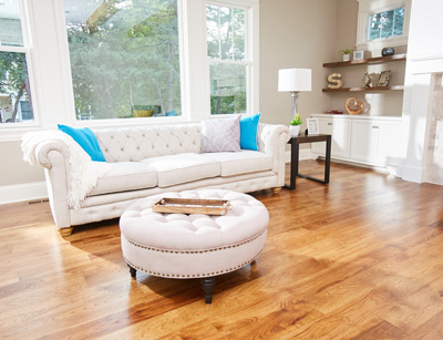 Solid hardwood flooring and engineered hardwood flooring are both durable, classic choices that create a warm, inviting atmosphere