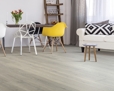 Laminate is a budget-conscious choice suitable for both formal and informal living spaces