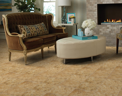 Make a formal statement in your living room or family room with ceramic or porcelain tile floors