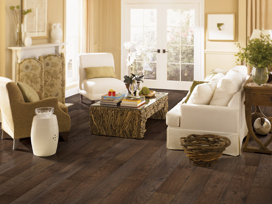 Wood laminate flooring is a durable, cost-effective option for solid hardwood floors