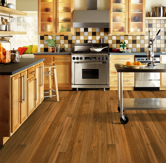 Sheet vinyl is the most budget-friendly faux wood flooring option