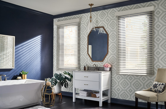 Faux wood blinds are a lower cost, lower maintenance alternative to real wood