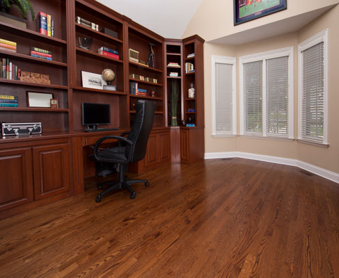 Laminate is a budget-conscious option that lends your office or study wood visuals at a more affordable price