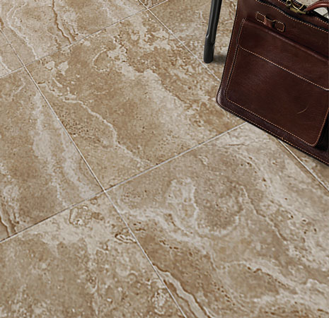 Ceramic and porcelain tiles in your home office are durable and resistant to abrasions, stains and soil