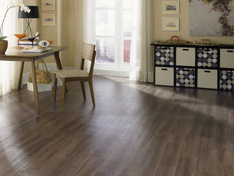 Vinyl plank is a budget-friendly wood look floor