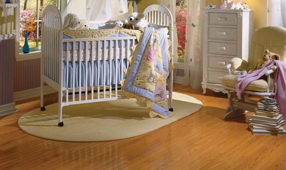 Hardwood and engineered hardwood create a warm, inviting atmosphere for families with and without kids