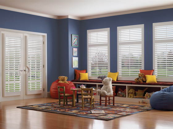 Window treatments with cords are a hazard to kids. Explore cordless blinds and shades.