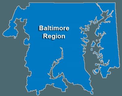 Baltimore Service Area & Regional Map