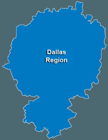 Dallas Service Area & Regional Map