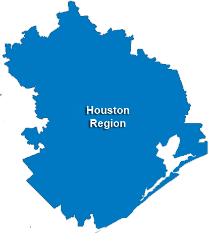 Houston Service Area & Regional Map