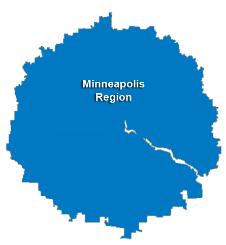 Minneapolis Service Area & Regional Map
