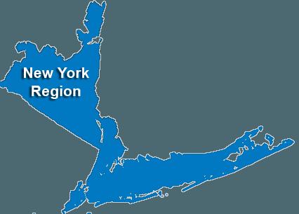 New York City Service Area & Regional Map
