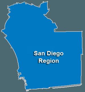 San Diego Service Area & Regional Map
