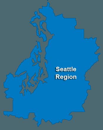 Seattle Service Area & Regional Map