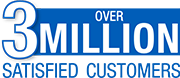 over 3 million satisfied customers