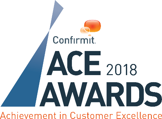 Confirmit ACE Awards 2018 Achievement in Customer Excellence Logo