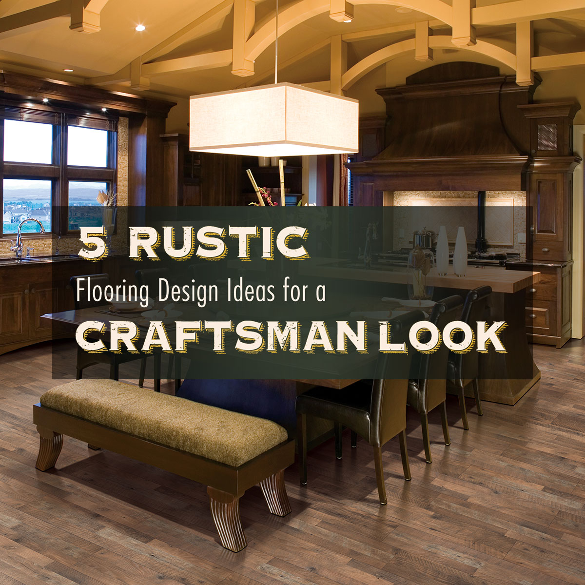 rustic flooring design ideas