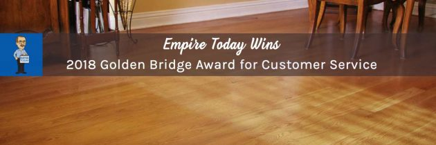 Empire Today Wins a Golden Bridge Award for Customer Service Department of the Year
