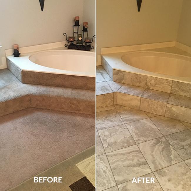 New Laminate Amp Porcelain Tile Flooring Make Texas Home