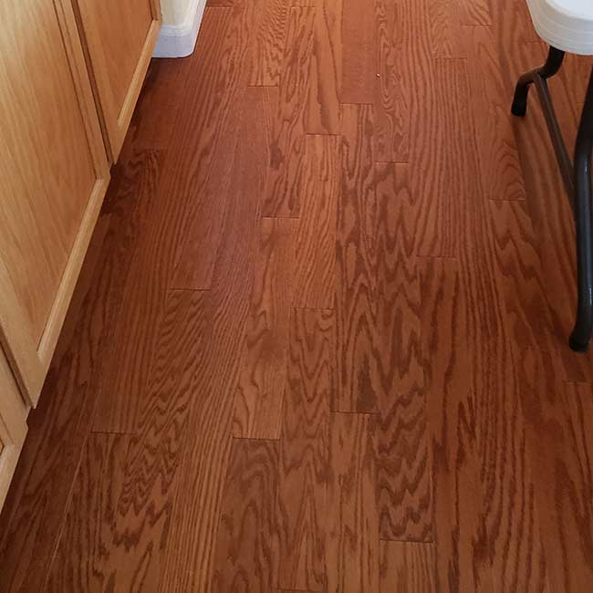 durable hardwood flooring in the hallway