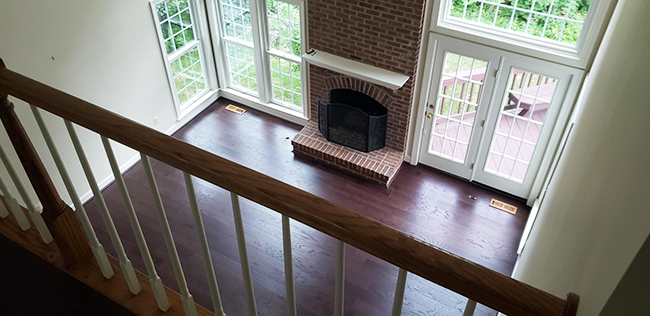 durable engineered hardwood in the living room