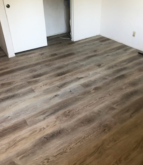 awterproof vinyl plank in the bedroom