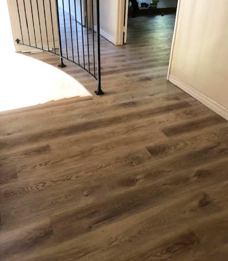 waterproof vinyl plank on top of stairs
