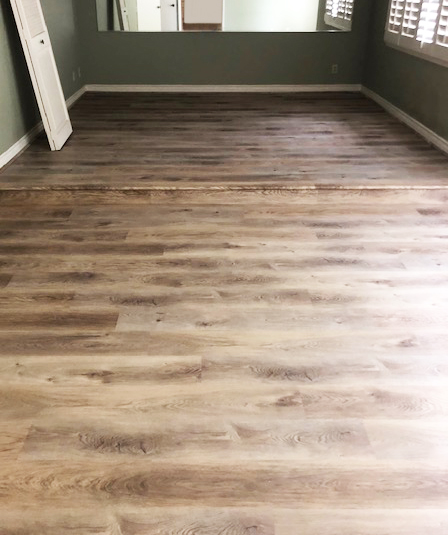 waterproof vinyl plank in the bedroom