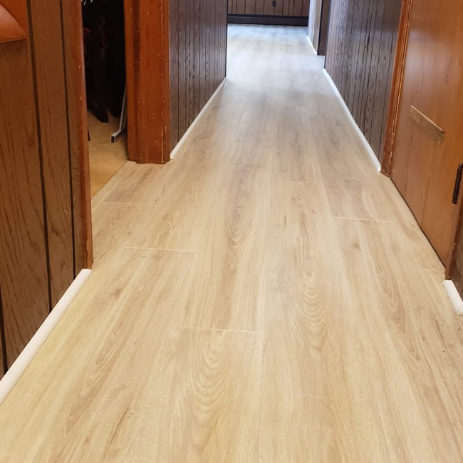 durable laminate flooring in the hallway