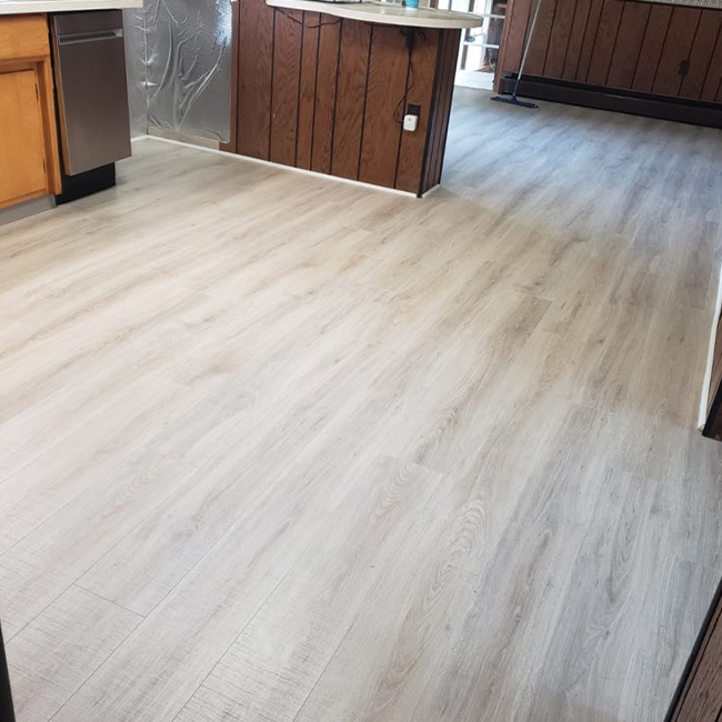 durable laminate flooring in the kitchen