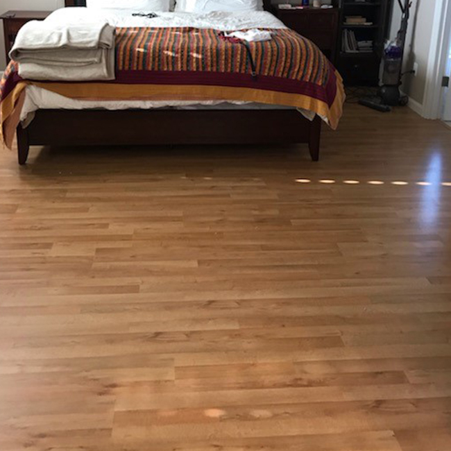 modern laminate flooring in the bedroom