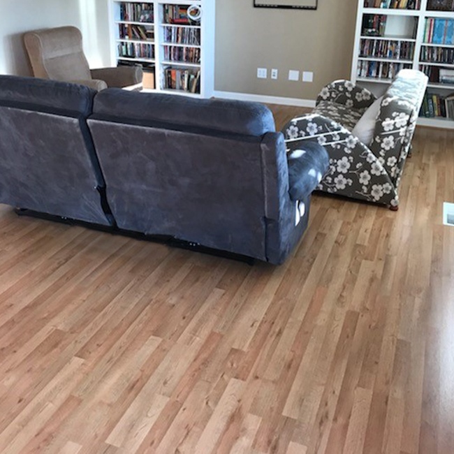 modern laminate flooring in the living room