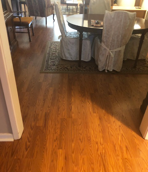 laminate in the dining room