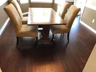 engineered hardwood in the dining room