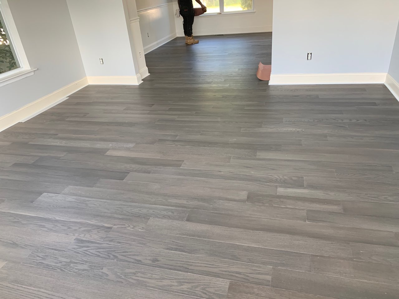 engineered hardwood in the living room