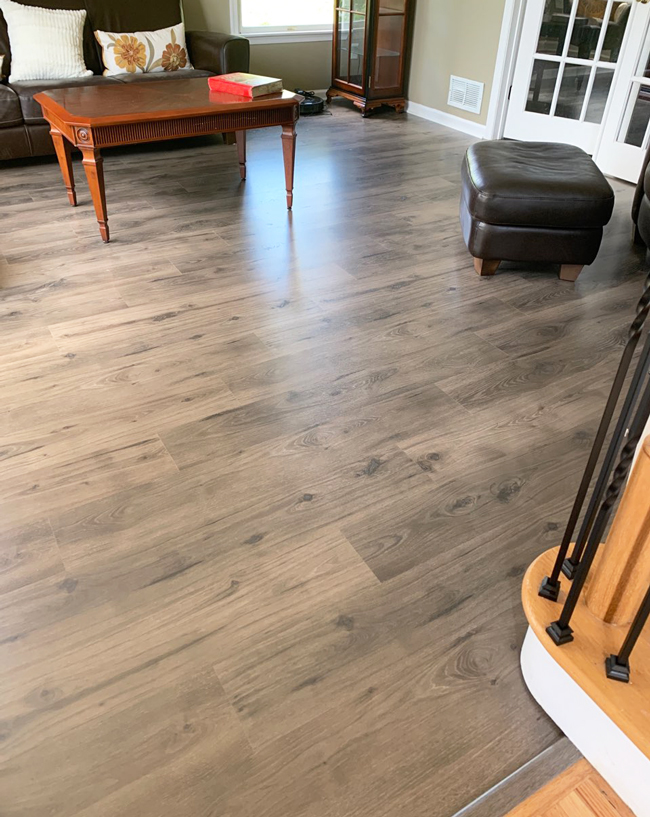 laminate flooring in the living room