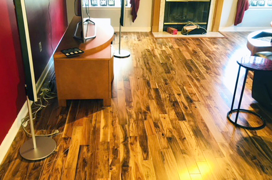 solid hardwood in the living room