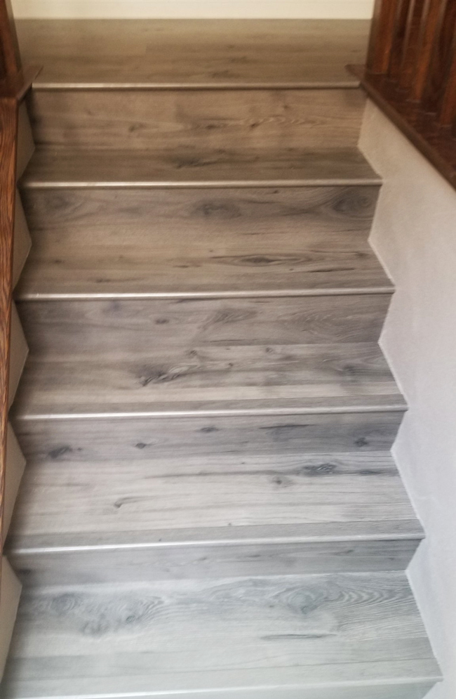 laminate flooring on the stairs