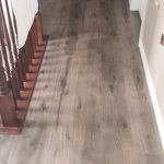 lamainate flooring in the hallway