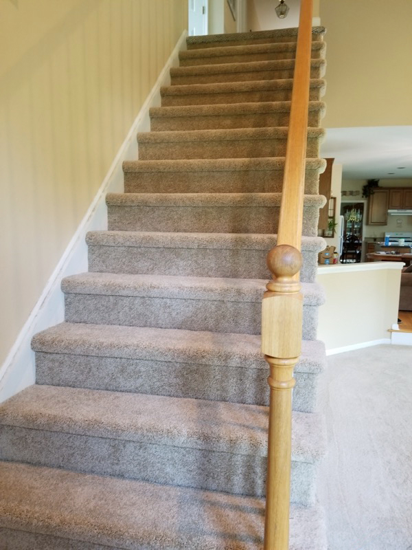 plush carpet stairs