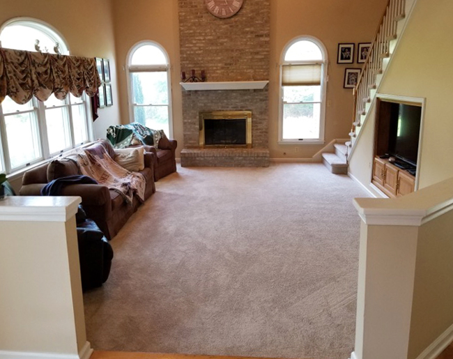 plush carpet in the family room