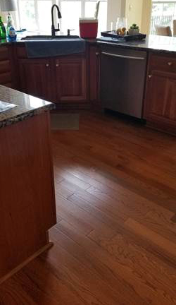 solid hardwood in the kitchen