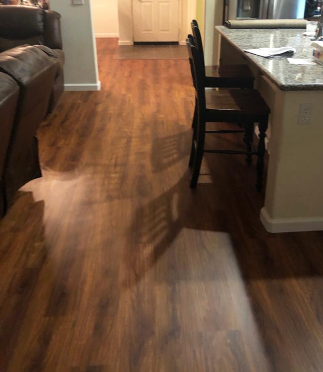 Kitchen Using Vinyl Plank, Waterproof Vinyl Flooring Looks Like Wood