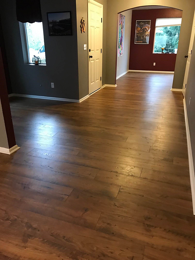 laminate flooring in the foyer
