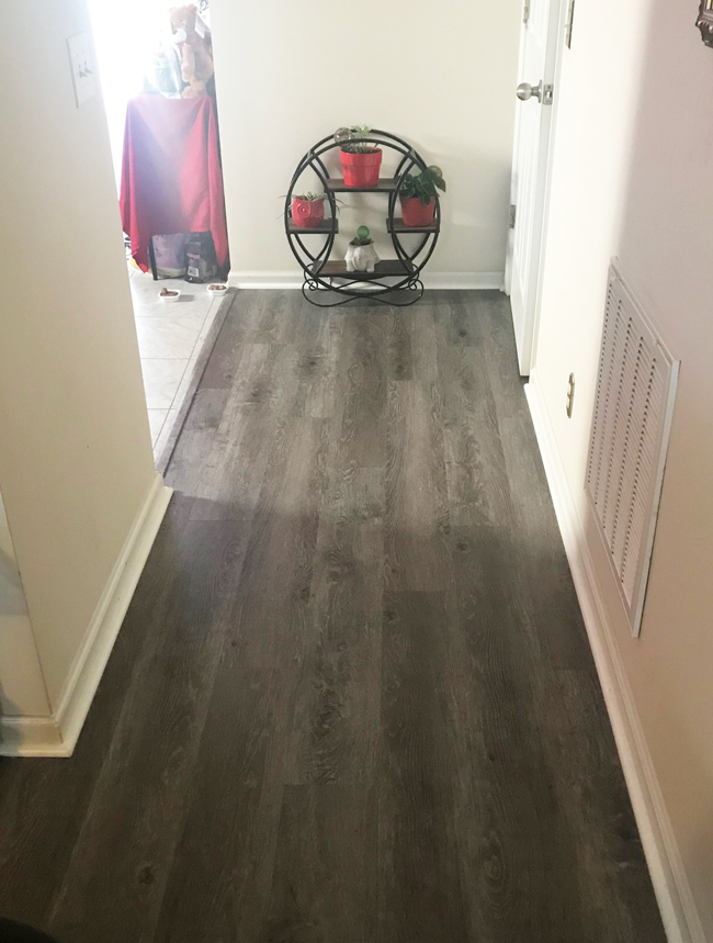 vinyl plank flooring in the hallway