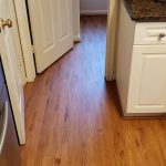Featured Image: waterproof vinyl plank flooring in the kitchen